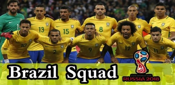 Brazil 2018 FIFA World Cup Team Squad
